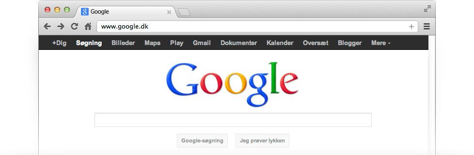Gør Google til din startside – Google