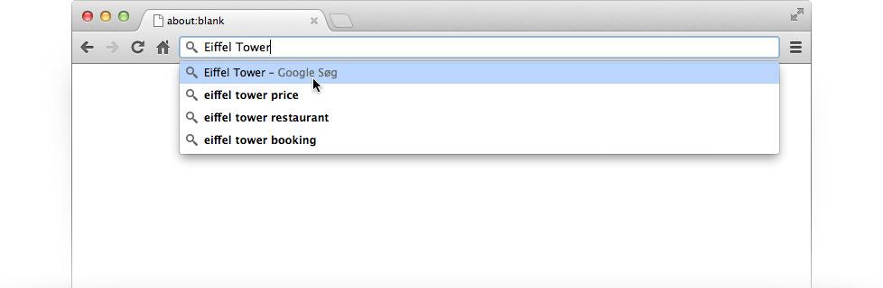 Gør Google til din standardsøgemaskine – Google