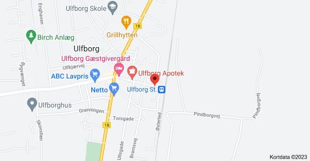 Kort over Bredgade 32, 6990 Ulfborg