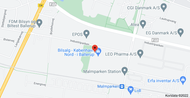 Kort over Industriparken 34, 2750 Ballerup