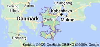 Kort over Region Sjælland